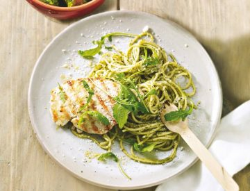 Spaghetti Chicken Pesto