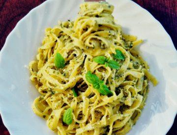 Spaghetti Kip Pesto
